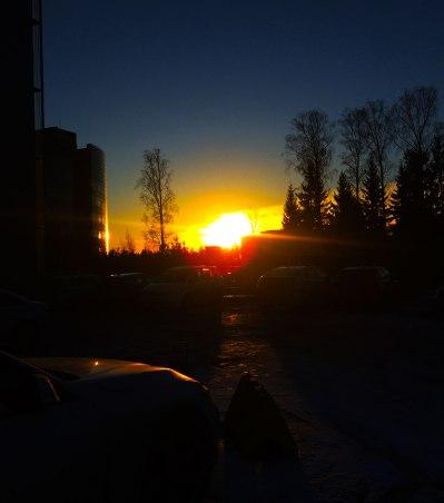 simpy-parkinglot-sunset