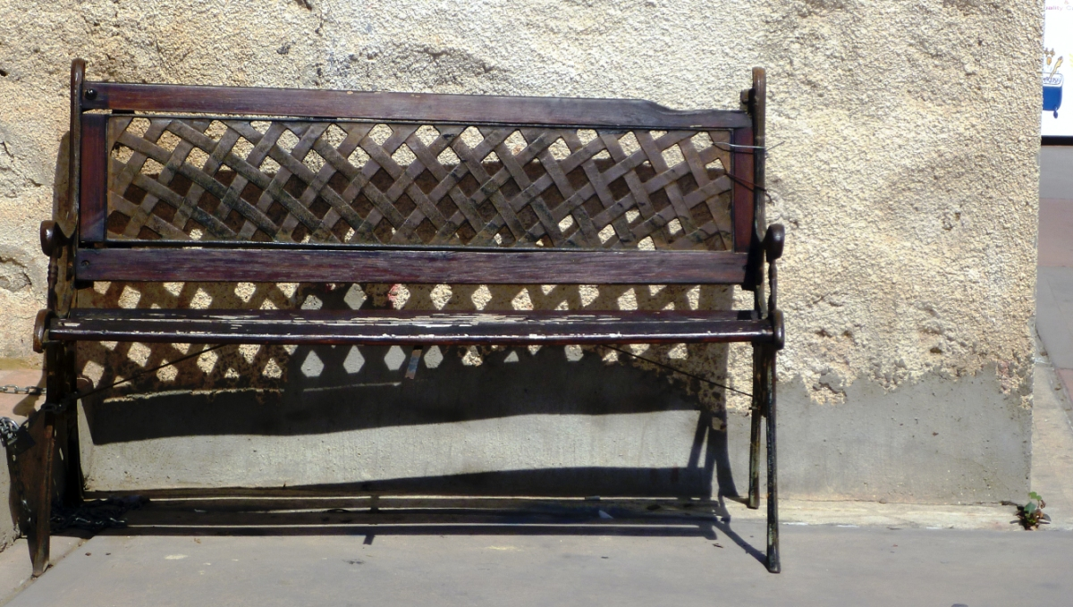 Sitting on a seat, in Cyprus
