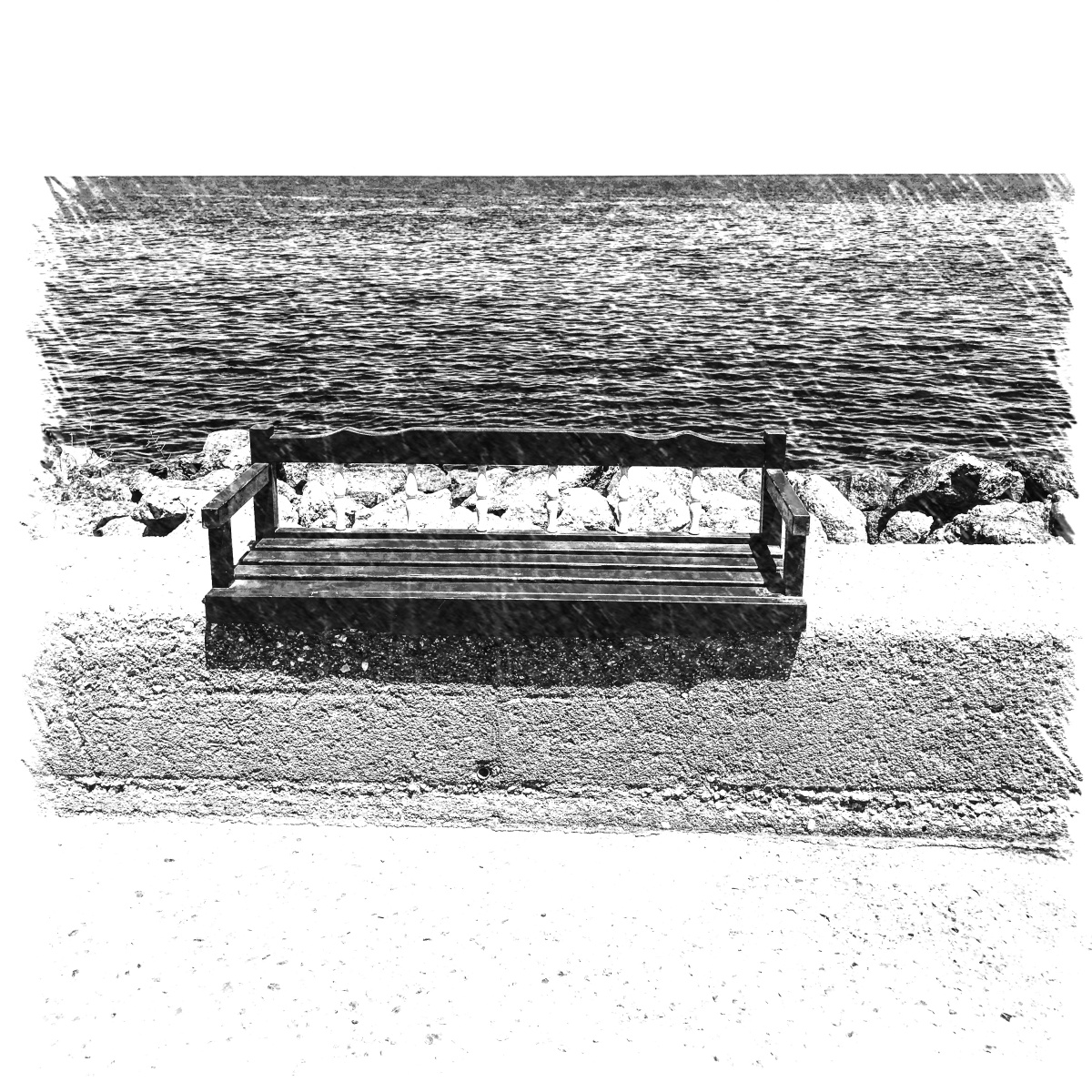 A seat in black and white I three